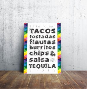 Tacos and Tequila Poster