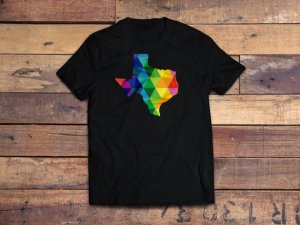 Texas Silhouette on T-shirt