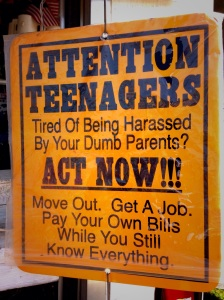 Attention Teenagers